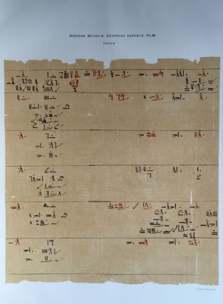 Facsimilé of the Rhind mathematical papyrus[newline]M0265a-08.jpg
