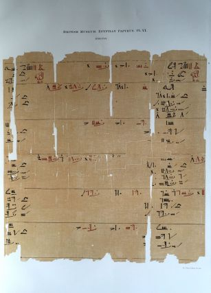 Facsimilé of the Rhind mathematical papyrus[newline]M0265a-11.jpg