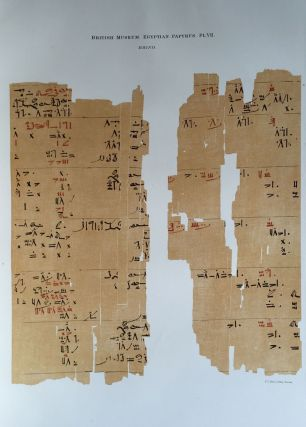 Facsimilé of the Rhind mathematical papyrus[newline]M0265a-12.jpg