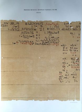 Facsimilé of the Rhind mathematical papyrus[newline]M0265a-13.jpg