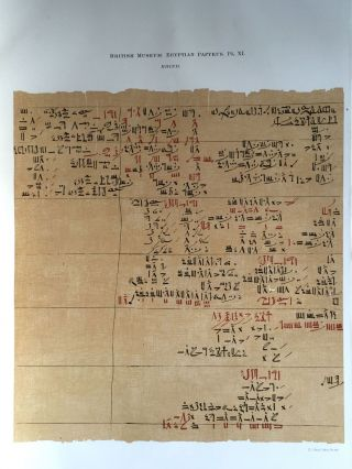 Facsimilé of the Rhind mathematical papyrus[newline]M0265a-16.jpg