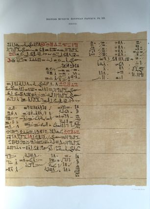 Facsimilé of the Rhind mathematical papyrus[newline]M0265a-17.jpg