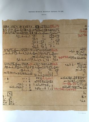 Facsimilé of the Rhind mathematical papyrus[newline]M0265a-18.jpg