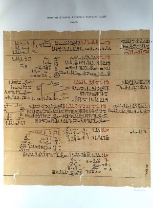 Facsimilé of the Rhind mathematical papyrus[newline]M0265a-19.jpg