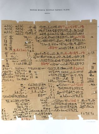 Facsimilé of the Rhind mathematical papyrus[newline]M0265a-22.jpg