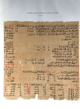 Facsimilé of the Rhind mathematical papyrus[newline]M0265a-24.jpg