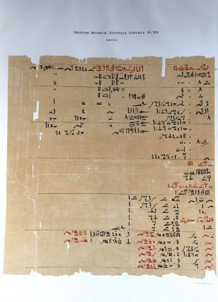Facsimilé of the Rhind mathematical papyrus[newline]M0265a-25.jpg