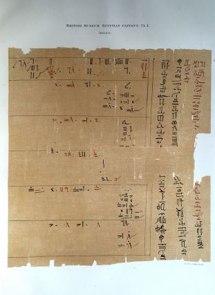 Facsimilé of the Rhind mathematical papyrus. BUDGE Ernest Alfred Wallis[newline]M0265a.jpg