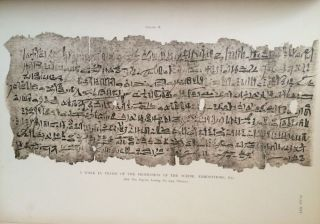 Facsimiles of Egyptian Hieratic Papyri in the British Museum. 1st series & 2nd series[newline]M0266-03.jpg