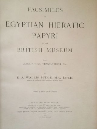 Facsimiles of Egyptian Hieratic Papyri in the British Museum. 1st series & 2nd series[newline]M0266-07.jpg