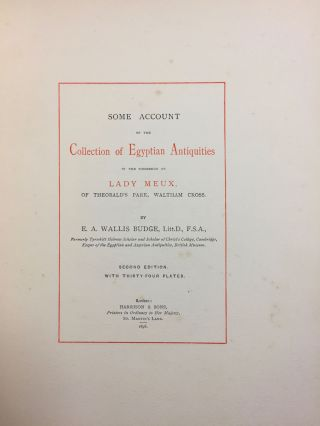 Some account of the collection of antiquities in the possession of Lady Meux of Theobald's Park, Waltham Cross[newline]M0270a-03.jpg
