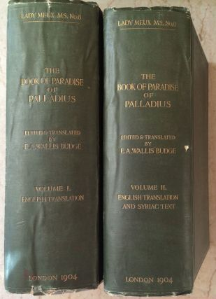 The Book of Paradise. Vol. I: English translation. Vol. II: English translation, index and Syriac...[newline]M0271a-00.jpg