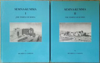 Semna-Kumna. Vol. I: The temple of Semna. Vol. II: The temple of Kumna (complete set). CAMINOS...[newline]M0298.jpg