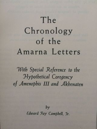 The chronology of the Amarna letters[newline]M0304-01.jpg