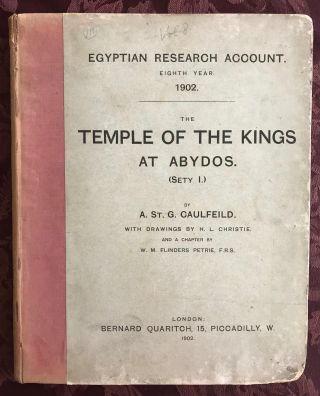 The temple of the kings at Abydos (Sethy I). With drawings by H.L. Christie and a chapter by W.M....[newline]M0318b.jpg