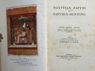 Egyptian papyri and papyrus-hunting. BAIKIE James[newline]M0378-01.jpg