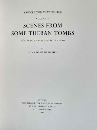 Scenes from some Theban tombs (Nos 38, 66, 162 with excerpts from 81)[newline]M0401-03.jpeg