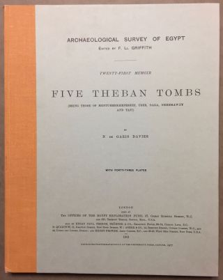 Five Theban tombs. Being those of Mentuherkhepeshef, User, Daga, Nehemawäy and Tati. DAVIES...[newline]M0402.jpg