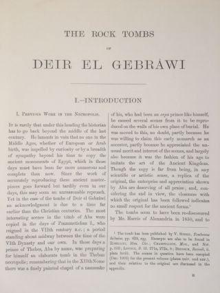 The rock tombs of Deir el-Gebrawi. Part I: Tomb of Aba and smaller tombs of the southern group. Part II: Tomb of Zau and tombs of the northern group (complete set)[newline]M0407e-06.jpg