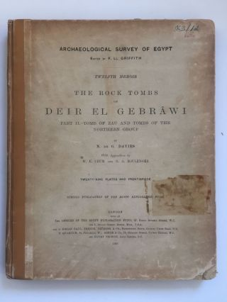 The rock tombs of Deir el-Gebrawi. Part I: Tomb of Aba and smaller tombs of the southern group. Part II: Tomb of Zau and tombs of the northern group (complete set)[newline]M0407e-09.jpg