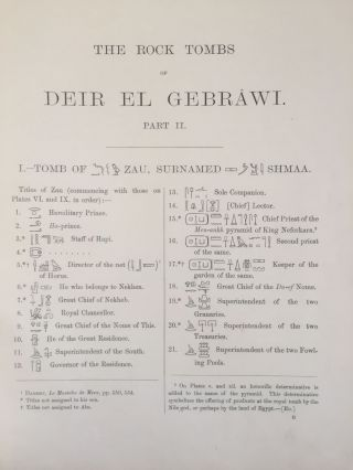 The rock tombs of Deir el-Gebrawi. Part I: Tomb of Aba and smaller tombs of the southern group. Part II: Tomb of Zau and tombs of the northern group (complete set)[newline]M0407e-14.jpg