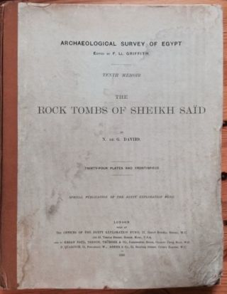 The rock tombs of Sheikh Said. DAVIES Norman de Garis.[newline]M0409.jpg