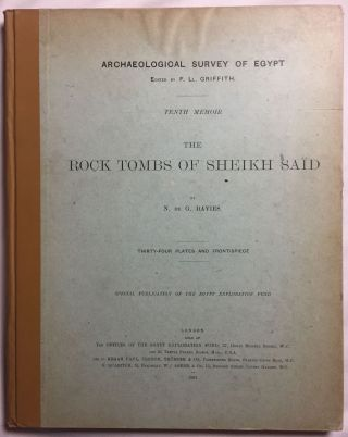 The rock tombs of Sheikh Said. DAVIES Norman de Garis[newline]M0409c.jpg