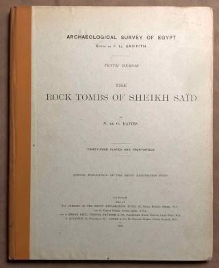 The rock tombs of Sheikh Said. DAVIES Norman de Garis[newline]M0409e.jpg