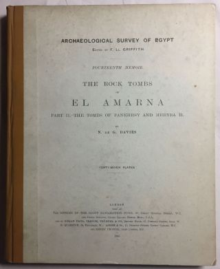 The rock tombs of Tell el-Amarna. Complete set of 6 volumes in the FIRST EDITION. Part I: The Tomb of Meryra.[newline]M0410-10.jpg