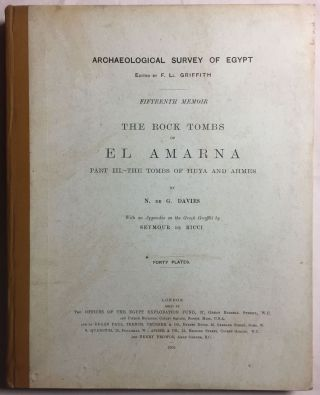 The rock tombs of Tell el-Amarna. Complete set of 6 volumes in the FIRST EDITION. Part I: The Tomb of Meryra.[newline]M0410-16.jpg