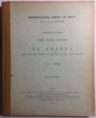The rock tombs of Tell el-Amarna. Complete set of 6 volumes in the FIRST EDITION. Part I: The Tomb of Meryra.[newline]M0410-23.jpg