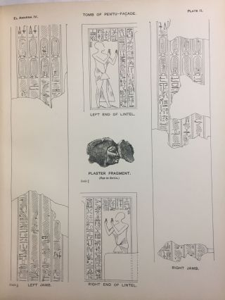 The rock tombs of Tell el-Amarna. Complete set of 6 volumes in the FIRST EDITION. Part I: The Tomb of Meryra.[newline]M0410-28.jpg