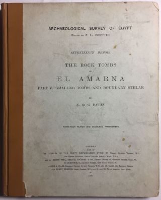 The rock tombs of Tell el-Amarna. Complete set of 6 volumes in the FIRST EDITION. Part I: The Tomb of Meryra.[newline]M0410-31.jpg