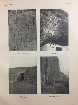The rock tombs of Tell el-Amarna. Complete set of 6 volumes in the FIRST EDITION. Part I: The Tomb of Meryra.[newline]M0410-40.jpg