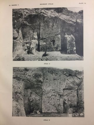 The rock tombs of Tell el-Amarna. Complete set of 6 volumes in the FIRST EDITION. Part I: The Tomb of Meryra.[newline]M0410-44.jpg