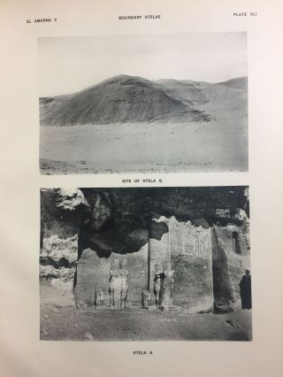 The rock tombs of Tell el-Amarna. Complete set of 6 volumes in the FIRST EDITION. Part I: The Tomb of Meryra.[newline]M0410-45.jpg
