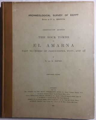 The rock tombs of Tell el-Amarna. Complete set of 6 volumes in the FIRST EDITION. Part I: The Tomb of Meryra.[newline]M0410-49.jpg