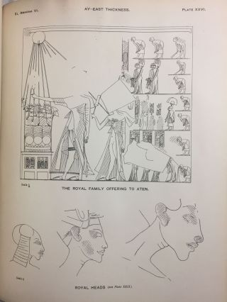 The rock tombs of Tell el-Amarna. Complete set of 6 volumes in the FIRST EDITION. Part I: The Tomb of Meryra.[newline]M0410-57.jpg