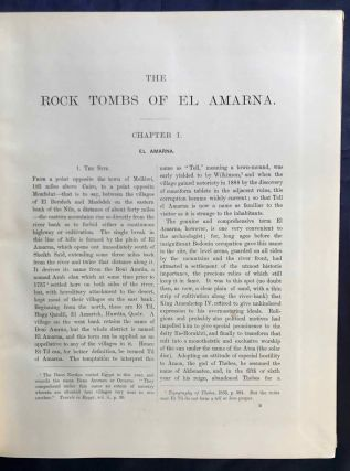 The rock tombs of Tell el-Amarna. Complete set of 6 volumes. Part I: The Tomb of Meryra. Part II: The Tombs of Panehesy and Meryra II. Part III: The Tombs of Huya and Ahmes. Part IV: Tombs of Penthu, Mahu, and Others. Part V: Smaller Tombs and Boundary Stelae. Part VI: Tombs of Parennefer, Tutu, and Aÿ (complete set)[newline]M0410h-05.jpg