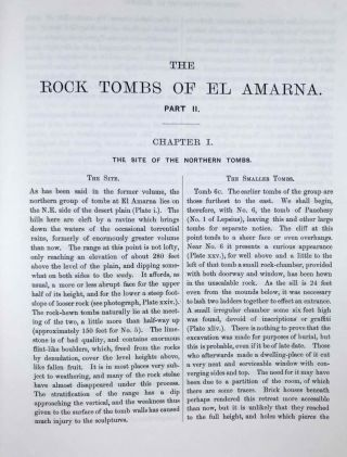 The rock tombs of Tell el-Amarna. Complete set of 6 volumes. Part I: The Tomb of Meryra. Part II: The Tombs of Panehesy and Meryra II. Part III: The Tombs of Huya and Ahmes. Part IV: Tombs of Penthu, Mahu, and Others. Part V: Smaller Tombs and Boundary Stelae. Part VI: Tombs of Parennefer, Tutu, and Aÿ (complete set)[newline]M0410j-17.jpeg