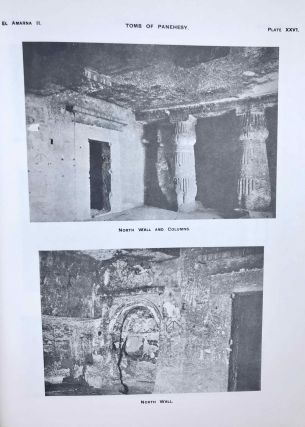 The rock tombs of Tell el-Amarna. Complete set of 6 volumes. Part I: The Tomb of Meryra. Part II: The Tombs of Panehesy and Meryra II. Part III: The Tombs of Huya and Ahmes. Part IV: Tombs of Penthu, Mahu, and Others. Part V: Smaller Tombs and Boundary Stelae. Part VI: Tombs of Parennefer, Tutu, and Aÿ (complete set)[newline]M0410j-20.jpeg