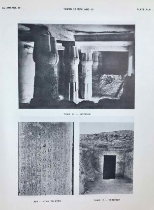 The rock tombs of Tell el-Amarna. Complete set of 6 volumes. Part I: The Tomb of Meryra. Part II: The Tombs of Panehesy and Meryra II. Part III: The Tombs of Huya and Ahmes. Part IV: Tombs of Penthu, Mahu, and Others. Part V: Smaller Tombs and Boundary Stelae. Part VI: Tombs of Parennefer, Tutu, and Aÿ (complete set)[newline]M0410j-37.jpeg