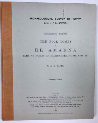 The rock tombs of Tell el-Amarna. Complete set of 6 volumes. Part I: The Tomb of Meryra. Part II: The Tombs of Panehesy and Meryra II. Part III: The Tombs of Huya and Ahmes. Part IV: Tombs of Penthu, Mahu, and Others. Part V: Smaller Tombs and Boundary Stelae. Part VI: Tombs of Parennefer, Tutu, and Aÿ (complete set)[newline]M0410j-48.jpeg