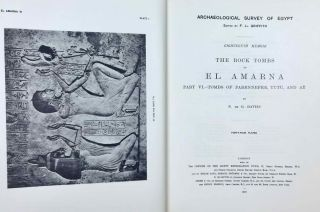 The rock tombs of Tell el-Amarna. Complete set of 6 volumes. Part I: The Tomb of Meryra. Part II: The Tombs of Panehesy and Meryra II. Part III: The Tombs of Huya and Ahmes. Part IV: Tombs of Penthu, Mahu, and Others. Part V: Smaller Tombs and Boundary Stelae. Part VI: Tombs of Parennefer, Tutu, and Aÿ (complete set)[newline]M0410j-49.jpeg