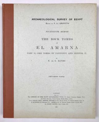 The rock tombs of Tell el-Amarna. Complete set of 6 volumes. Part I: The Tomb of Meryra. Part II: The Tombs of Panehesy and Meryra II. Part III: The Tombs of Huya and Ahmes. Part IV: Tombs of Penthu, Mahu, and Others. Part V: Smaller Tombs and Boundary Stelae. Part VI: Tombs of Parennefer, Tutu, and Aÿ (complete set)[newline]M0410m-14.jpeg