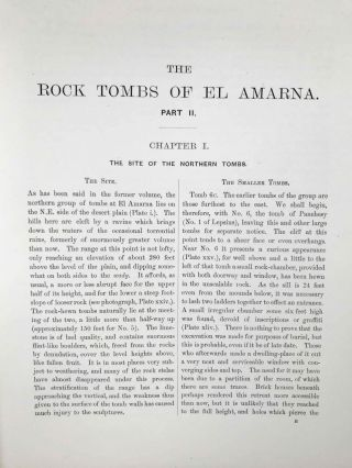 The rock tombs of Tell el-Amarna. Complete set of 6 volumes. Part I: The Tomb of Meryra. Part II: The Tombs of Panehesy and Meryra II. Part III: The Tombs of Huya and Ahmes. Part IV: Tombs of Penthu, Mahu, and Others. Part V: Smaller Tombs and Boundary Stelae. Part VI: Tombs of Parennefer, Tutu, and Aÿ (complete set)[newline]M0410m-18.jpeg