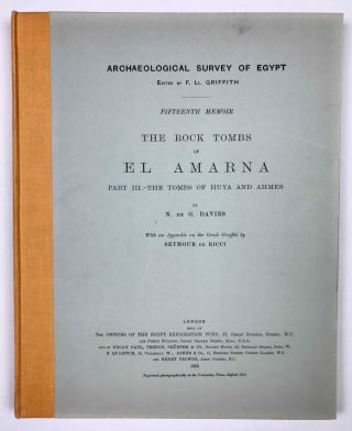 The rock tombs of Tell el-Amarna. Complete set of 6 volumes. Part I: The Tomb of Meryra. Part II: The Tombs of Panehesy and Meryra II. Part III: The Tombs of Huya and Ahmes. Part IV: Tombs of Penthu, Mahu, and Others. Part V: Smaller Tombs and Boundary Stelae. Part VI: Tombs of Parennefer, Tutu, and Aÿ (complete set)[newline]M0410m-26.jpeg