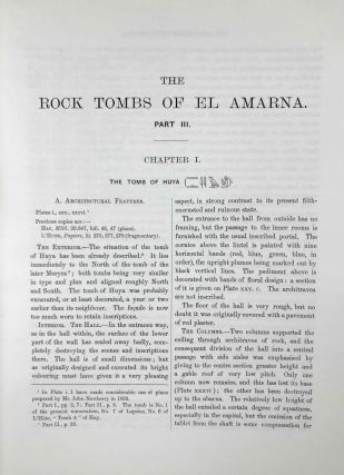 The rock tombs of Tell el-Amarna. Complete set of 6 volumes. Part I: The Tomb of Meryra. Part II: The Tombs of Panehesy and Meryra II. Part III: The Tombs of Huya and Ahmes. Part IV: Tombs of Penthu, Mahu, and Others. Part V: Smaller Tombs and Boundary Stelae. Part VI: Tombs of Parennefer, Tutu, and Aÿ (complete set)[newline]M0410m-29.jpeg