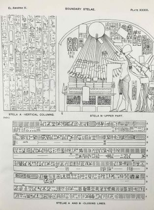 The rock tombs of Tell el-Amarna. Complete set of 6 volumes. Part I: The Tomb of Meryra. Part II: The Tombs of Panehesy and Meryra II. Part III: The Tombs of Huya and Ahmes. Part IV: Tombs of Penthu, Mahu, and Others. Part V: Smaller Tombs and Boundary Stelae. Part VI: Tombs of Parennefer, Tutu, and Aÿ (complete set)[newline]M0410m-56.jpeg