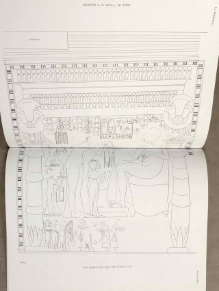 The rock tombs of Tell el-Amarna. Complete set of 6 volumes. Part I: The Tomb of Meryra. Part II: The Tombs of Panehesy and Meryra II. Part III: The Tombs of Huya and Ahmes. Part IV: Tombs of Penthu, Mahu, and Others. Part V: Smaller Tombs and Boundary Stelae. Part VI: Tombs of Parennefer, Tutu, and Aÿ (complete set of 6 parts in 3 volumes, 2004 reedition)[newline]M0410n-16.jpeg